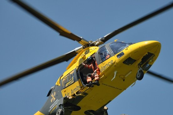 Air Ambulance Service helicopter