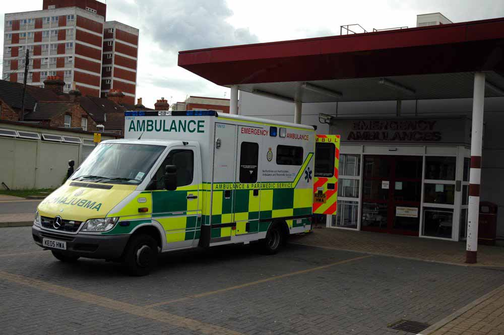 Ambulance at hospital