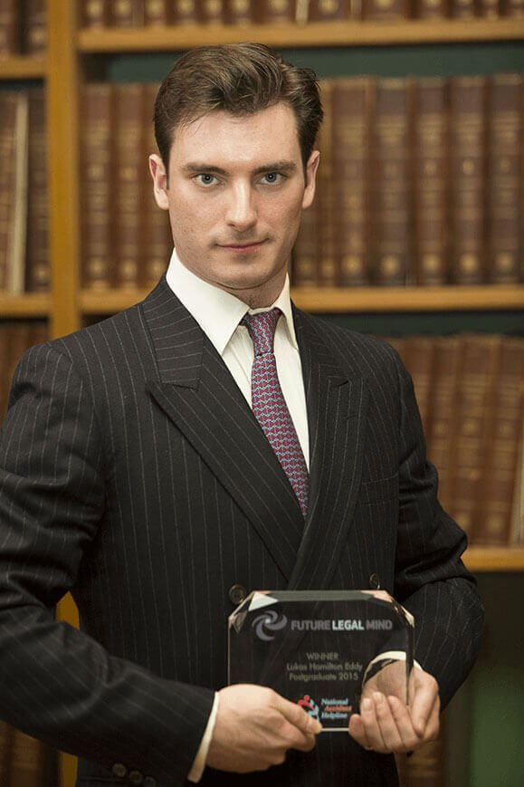 Lukas Hamilton Eddy, Future Legal Mind 2015 winner
