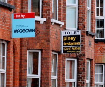 To let boards on terraced houses
